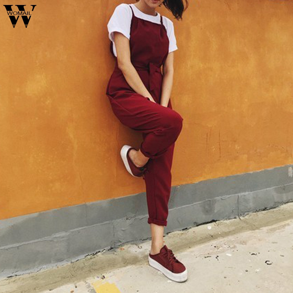 Womail bodysuit Women Summer Fashion Sleeveless Sexy Plus Size Solid Long Loose Jumpsuit Bodysuit Holiday NEW2019 dropship A2