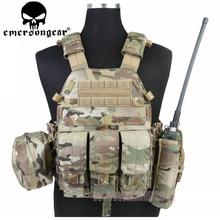 Emersongear chaleco táctico LBT 6094, armadura corporal con 3 bolsas, equipo de combate militar, Airsoft, para caza, EM7440, color caqui, Mandrake