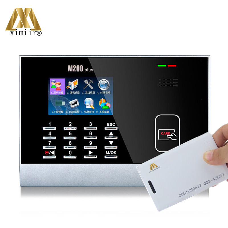 Hot Selling LCD Color Screen M200plus Card Time Attendance Linux System 125KHz RFID Office Time Recording