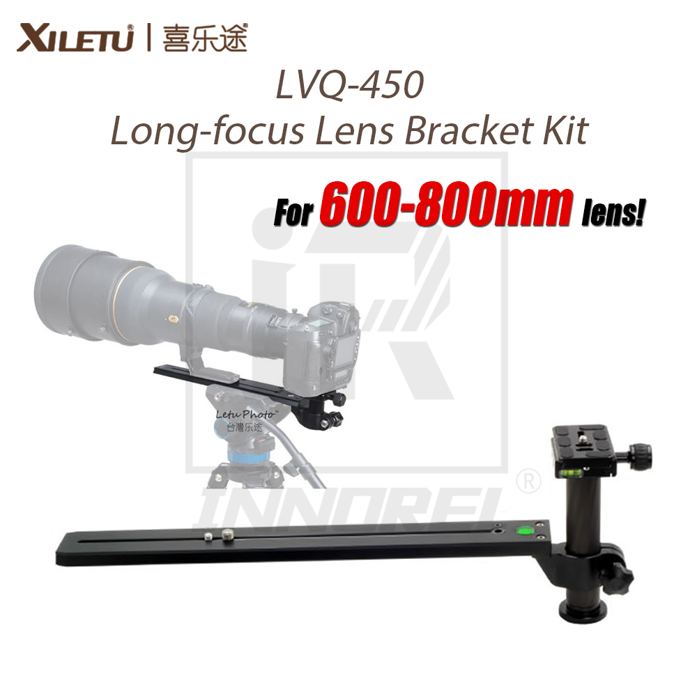ФОТО LVQ-450 600-800mm Long-focus Lens Bracket Kit for Bird Watching Lengthened Quick Release Plate Long Nodal Slide Rail