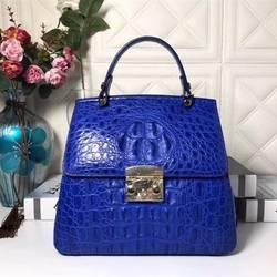 Роскошные дизайнерские натуральной кожи аллигатора Трехходовой леди кошелек крокодиловой кожи женские Для женщин синяя сумка Для женщин
