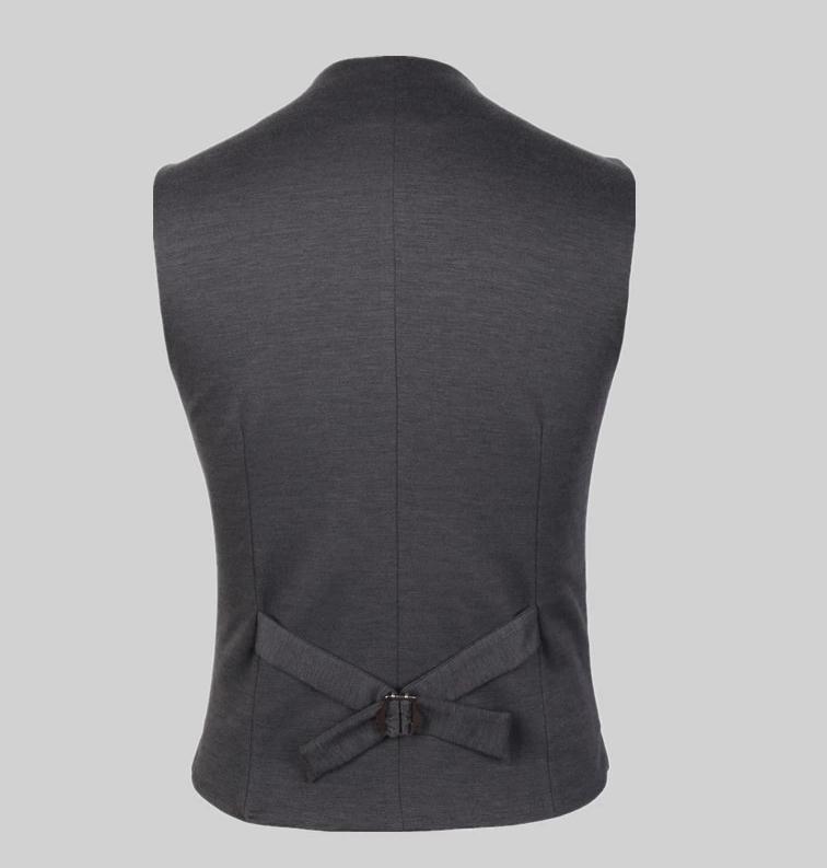 Высококачественный мужской жилет мужской Модный повседневный костюм с v-образным вырезом Тонкие жилеты плотной посадки мужская одежда костюм жилет