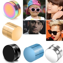 1 Pair Magnetic Stud Earrings For Women Men Boy Metal Magnet Ear Decoration Weight Loss