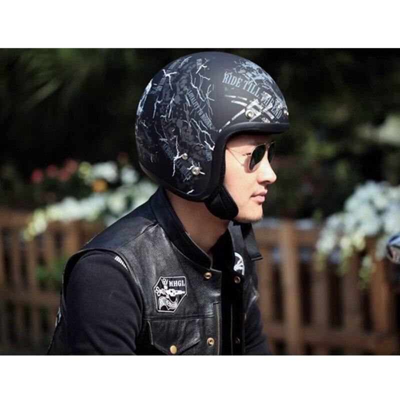 THH vintage Motorcycle Helmet open face harley helmets moto casco can add viseira bolha retro jet scooter vespa half face helmet