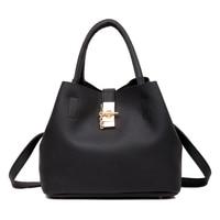 Fashion Women Leather Handbags Classic Hit Color Large Tote Handbag Sac A Main PU Shoulder Crossbody