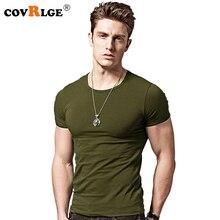 Covrlge 2019 T Shirt Men Short Sleeve Solid Tshirt Mens Fashion Slim Fit T-shirts Casual O-neck TShirts Fitness Clothing Mts2911