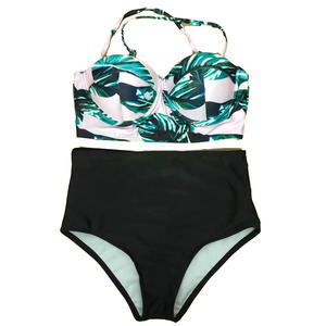 7904f53a6a172 Women Swimsuit High Waist Bikini Floral Top Brazilian Biquini Tropical Bathing  Suit