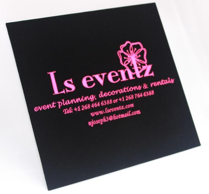 Gratis Pengiriman Hi6021 Cantik Hitam Beludru Kartu Undangan Pernikahan Dengan Hot Pink Foil Perak Printing Card Circle Card And Envelope Setcard Deck Aliexpress