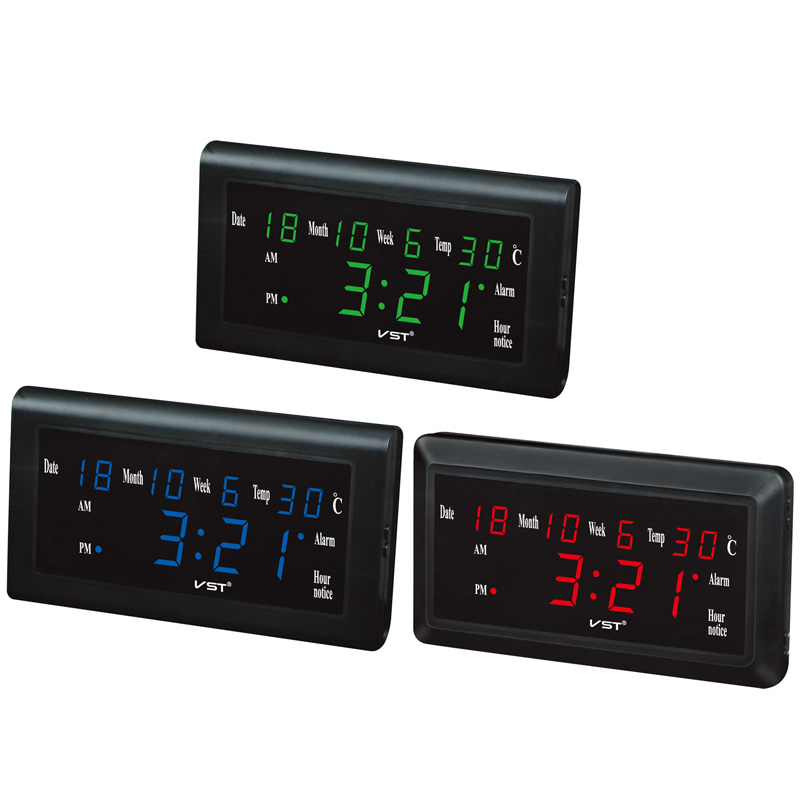 Alarm Clocks Search For Flights Mrosaa 12/24 Hours Digital Led Alarm Clocks Desktop Clock Large Number Lcd Display Temperature Date Week Month Table Clock Clocks