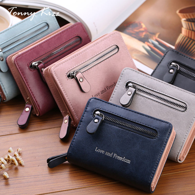 Wallet women fashion top quality small wallet PU leather mini purse female short card holder Tonny Kizz coin zipper wallet new fashion design women coin case cute hot wallet bifold short mini zipper around purse pu leather good quality coin pouch