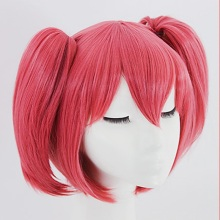 Anime Game LoveLive Ruby Kurosawa Cosplay Wig Rose Double Short Ponytail Party