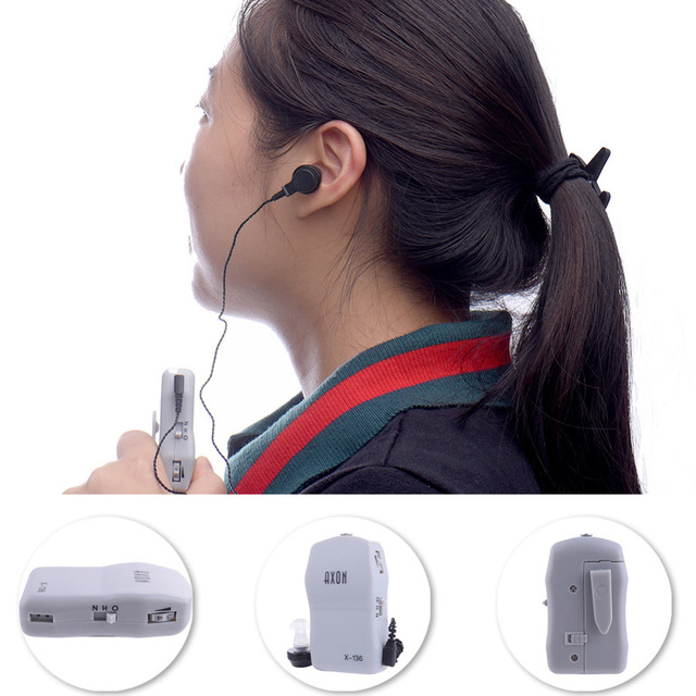 High Power Wired Box Listening Mini Digital Hearing Aid Ear Sound Amplifier Receiver  Volume Adjustable Tone Ear Care Tool