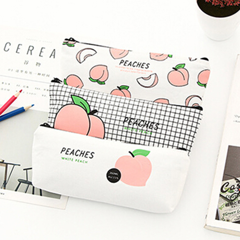 Cosmetic Bags & Cases Women Travel Toiletry Cosmetic Bag Pencil Make Up Makeup Pencial Case Pouch Purse Organizer Fruit Printing Students Bags