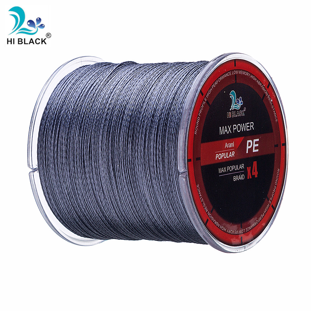 300M HI BLACK Brand Japan Multifilament 100% PE Braided Fishing Line 6LB to 80LB Free Shipping