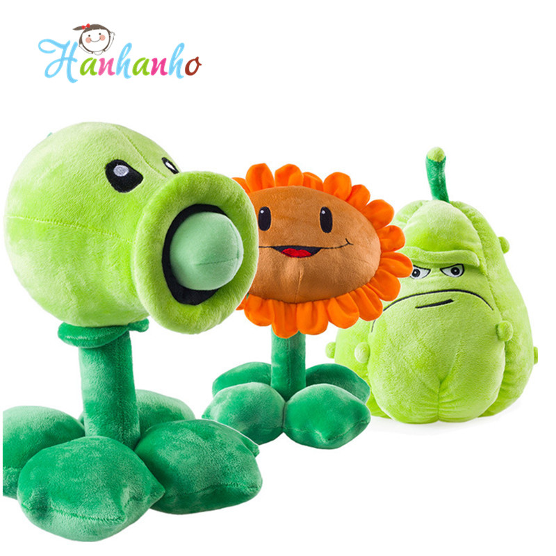 Plants vs Zombies Plush Toy Pea Shooter Sunflower Squash Doll Kids Party Supplies 12