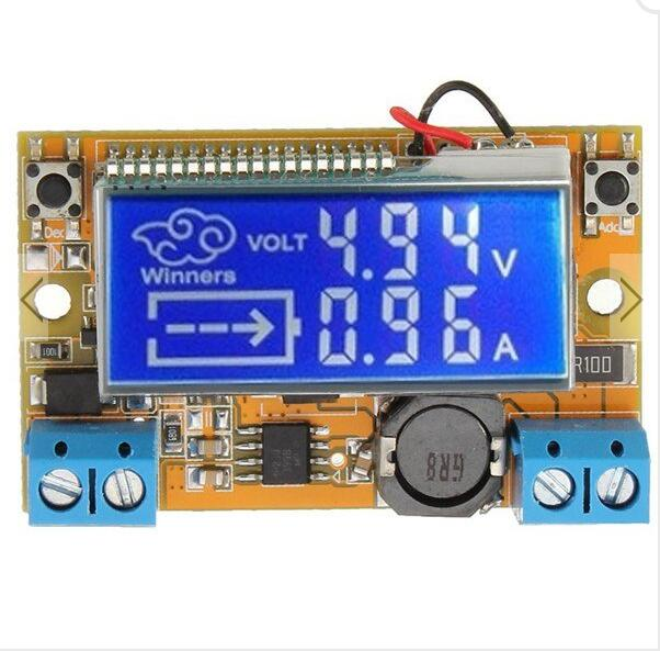 Liquid Crystal Displays DC-DC Step-Down Power Supply Adjustable Push-Button Module with LCD Display diy kit dc dc adjustable step down regulated power supply module belt voltmeter ammeter dual display