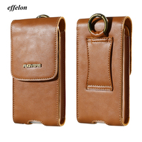 1 Men Genuine Leather Vintage Travel Cell Mobile Phone Belt Pouch Purse Waist Bag For IPhone