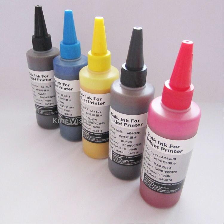 ФОТО 5PCS/Set 100ML T273XL0-T273XL4 Sublimation Ink For Epson XP600 XP800 XP610 XP810 Inkjet Printer