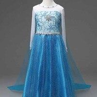 Girls Dresses Fantasia Vestido Disfraz Jurk Fever Anna Elsa Rapunzel Dress Elza Princesa Princess Sofia Costume