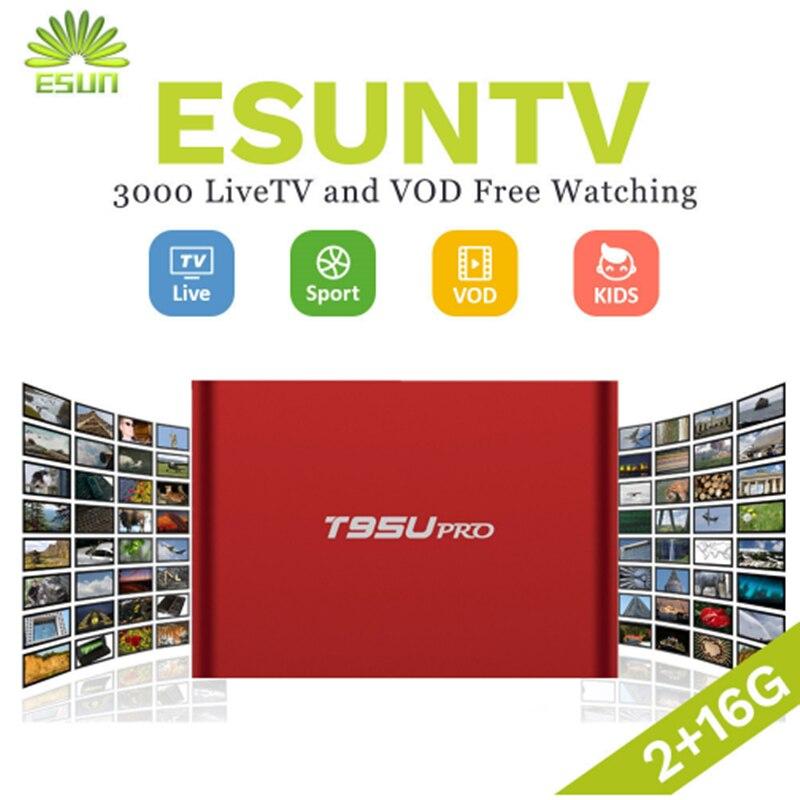 1 année IPTV inclus T95U PRO Android IPTV Boîte 6.0 Smart TV Box Espagne ROYAUME-UNI Allemagne Italie Pays-Bas Portugal Suède EX-YU xxx NOUS