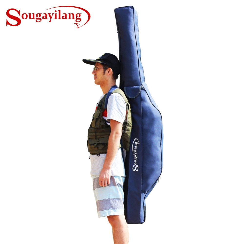 Sougayilang 1 7M 1 1Kg Large Capacity Multi function Fishing Bag Fishing Tackle Bag For Rod