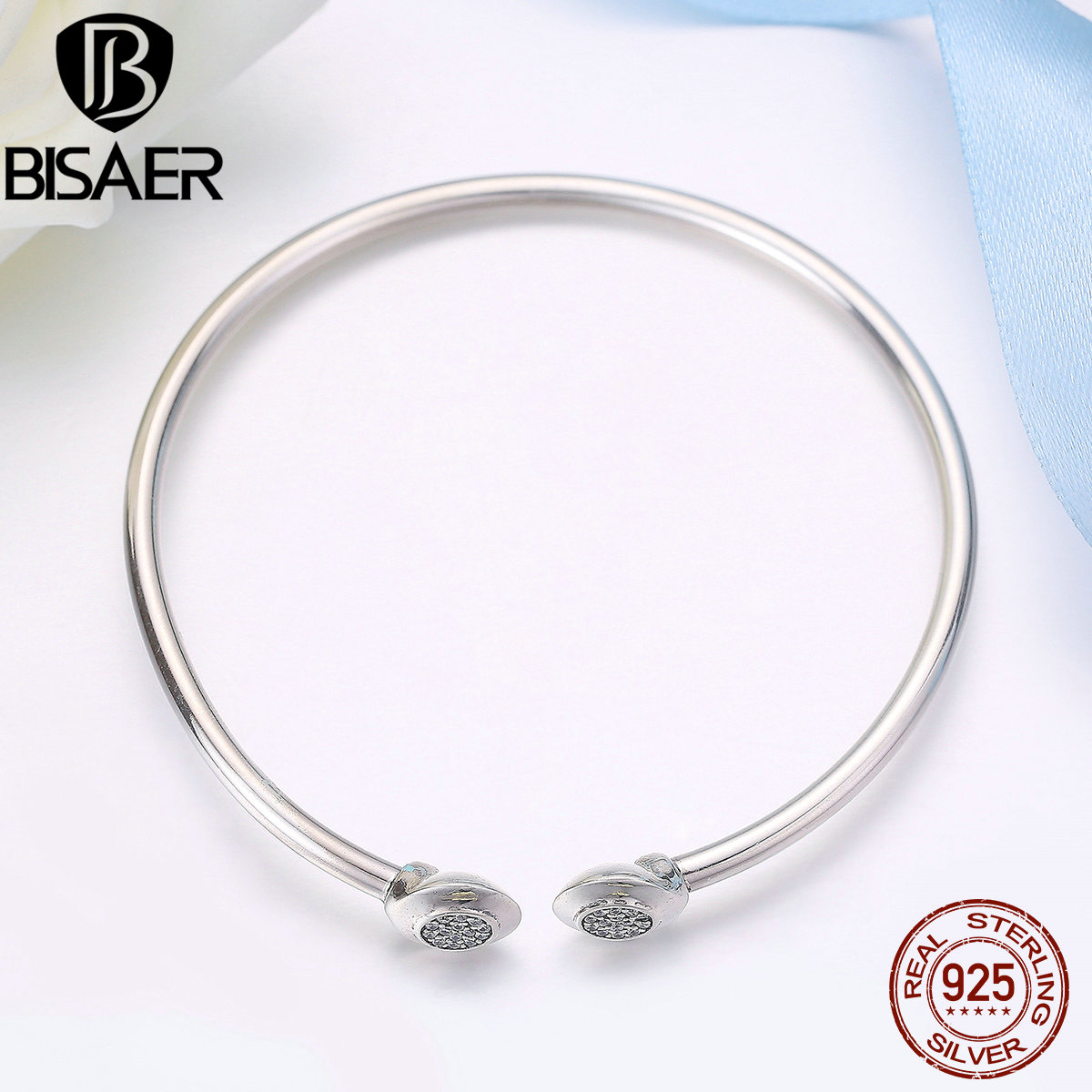 100% 925 Sterling Silver Signature, Clear CZ Snake Chain Bracelet & Bangle Sterling Silver 925 Jewelry Making Pulseira GOS918 925 sterling silver jewelry signature bangle bracelet with clear cz and real 14k gold fine jewelry trendy bangles for women 049k