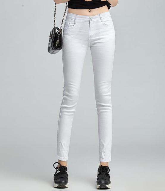 028ad5e411dc6d Free Shipping Colored pencil pants candy pants jeans female skinny pants  plus size elastic casual long