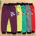 ¡ Venta caliente! primavera otoño boy pantalones de algodón de mickey de los niños pantalones casuales boy pantalones de chándal niños deportes pantalones de la muchacha ropa