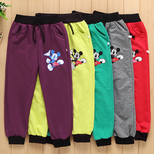 Hot Sale!Spring autumn cotton boy pants girl Mickey pants kids casual pants boy Sweatpants children sports trousers girl clothes