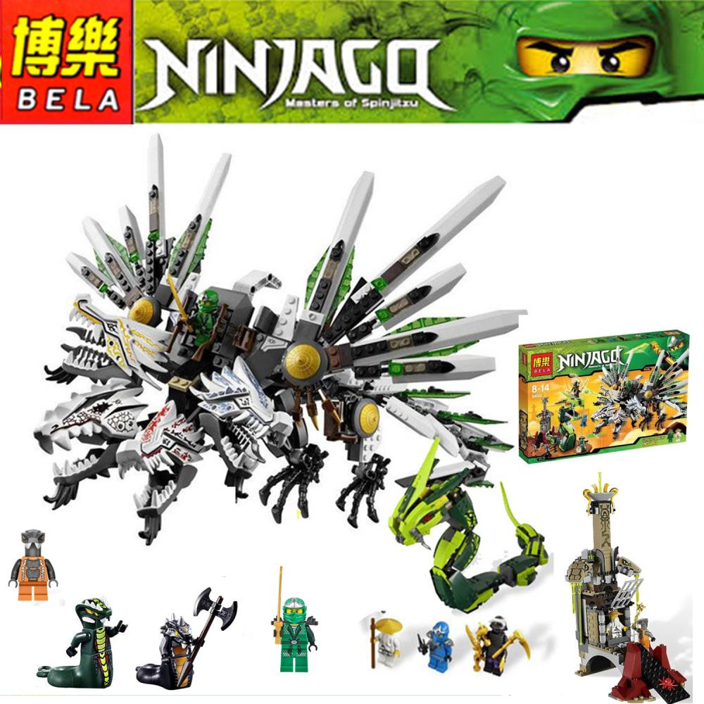 US $69 14 |911Pcs Ninjago Set Epic Dragon Battle Phantom Ninja Building  Bricks Blocks 9450 Lepin Toy Compatible With Lego-in Blocks from Toys &