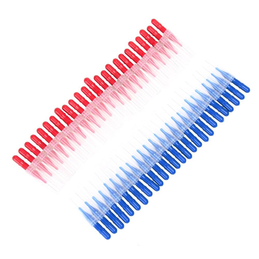 50 SZTUK Miękkie Plastikowe Międzyzębowe Szczoteczki Do Zębów - Hygiena jamy ustnej - Zdjęcie 6