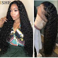 360 Lace Frontal Wig Jerry Curly Wave Wigs 13x6 Deep Front Lace Remy Human Hair Preplucked Long Wigs Black Full End For Women