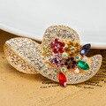 Очень красивые броши Bijuterias блестящий красиво женщин красочные шляпы контактный брошь букет лучше брак годовщина ювелирные изделия Broche