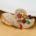 Very Beautiful Brooches Bijuterias Shiny Nicely Women Colorful Hats Pin Brooch bouquet  Best Marriage Anniversary Jewelry Broche