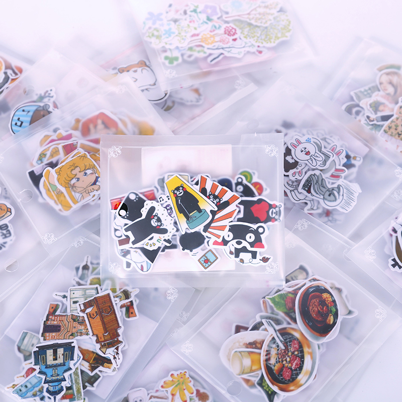 JIANWU Second Season A Variety Of Expression Stickers Shape Notebook Stickers Student Stationery