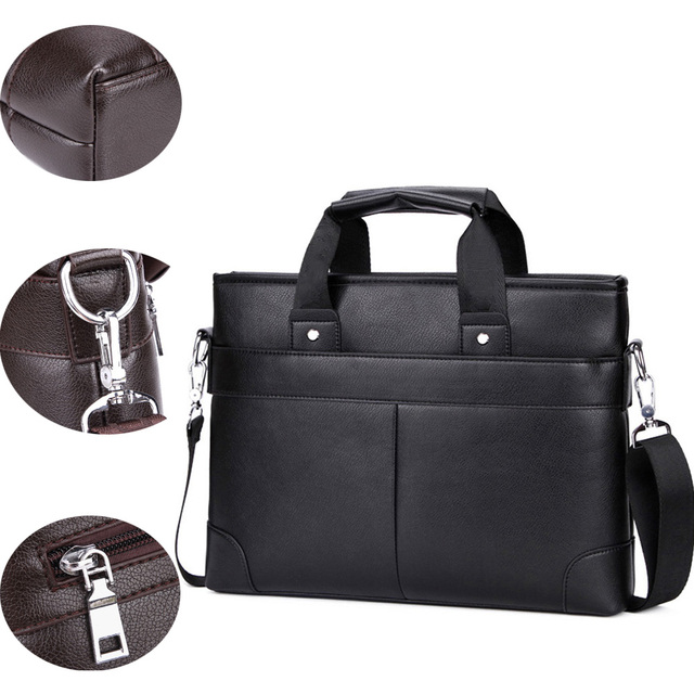 e143e5e40e2 Alena Culian Promotion Men's Leather Briefcase Casual Travel Handbag Men  High Quality Laptop Bag Man's Daily Work Shoulder Bags