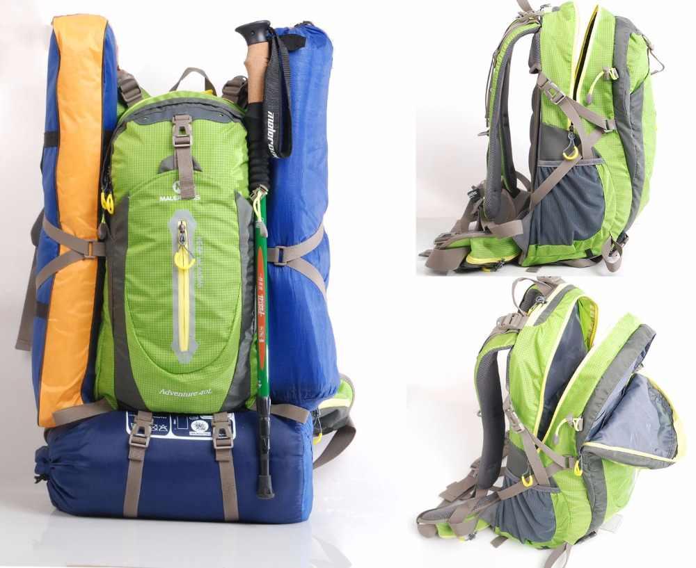 Maleroads Ransel Camping Hiking Ransel Tas Olahraga Luar Ruangan Perjalanan Ransel Trekk Gunung Pendakian Peralatan 40 50L Pria Wanita