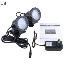 New Waterproof RGB 36 LED Underwater Spot Light For Swimming Pool Fountains Pond Water Garden Aquarium Fish Tank Spotlight Lamp led underwater waterproof white rgb spot lamp on solar power ip68 submarine projector light for garden pond pool tank decoration