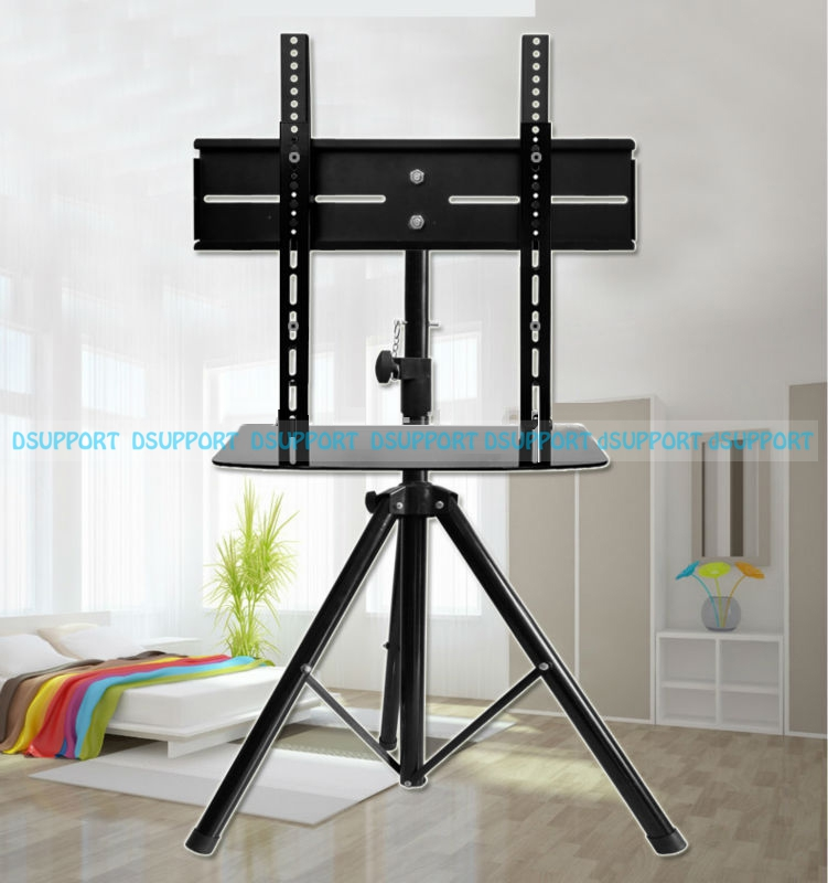 55 inch tv 360degree-Swivel-32-55-inch-TV-Mount-Tripod-Stand-with-DVD-Holder-VESA-100-500mm-Loading