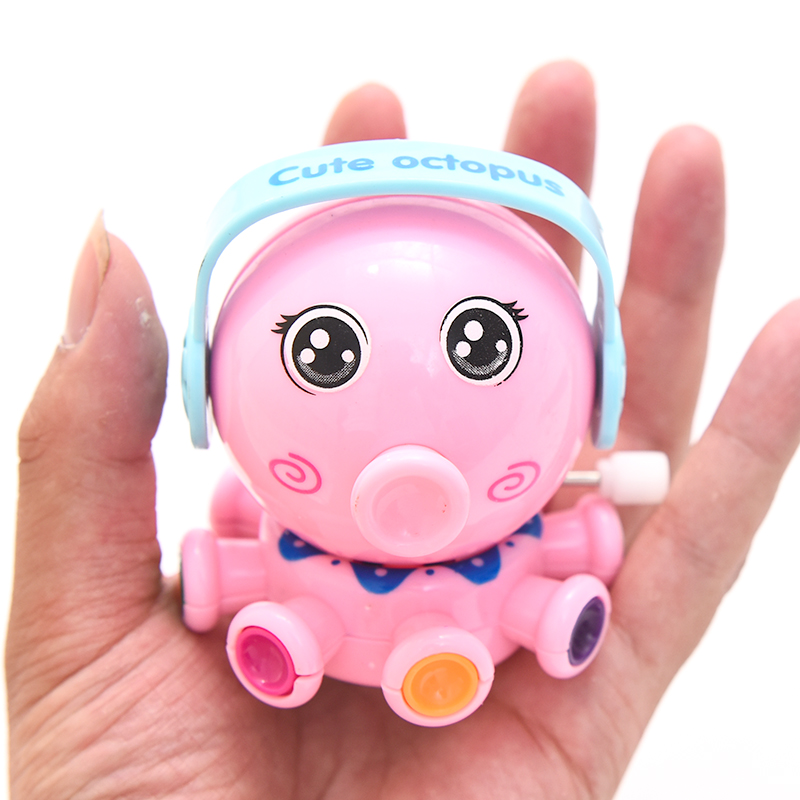 Colorful Lovely Cute Octopus Cartoon Animal Wind Up Funny Clockwork Design Toys For Children Kid