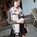 Beach sunscreen thin section women scarf Striped wild air conditioning room warm big shawl