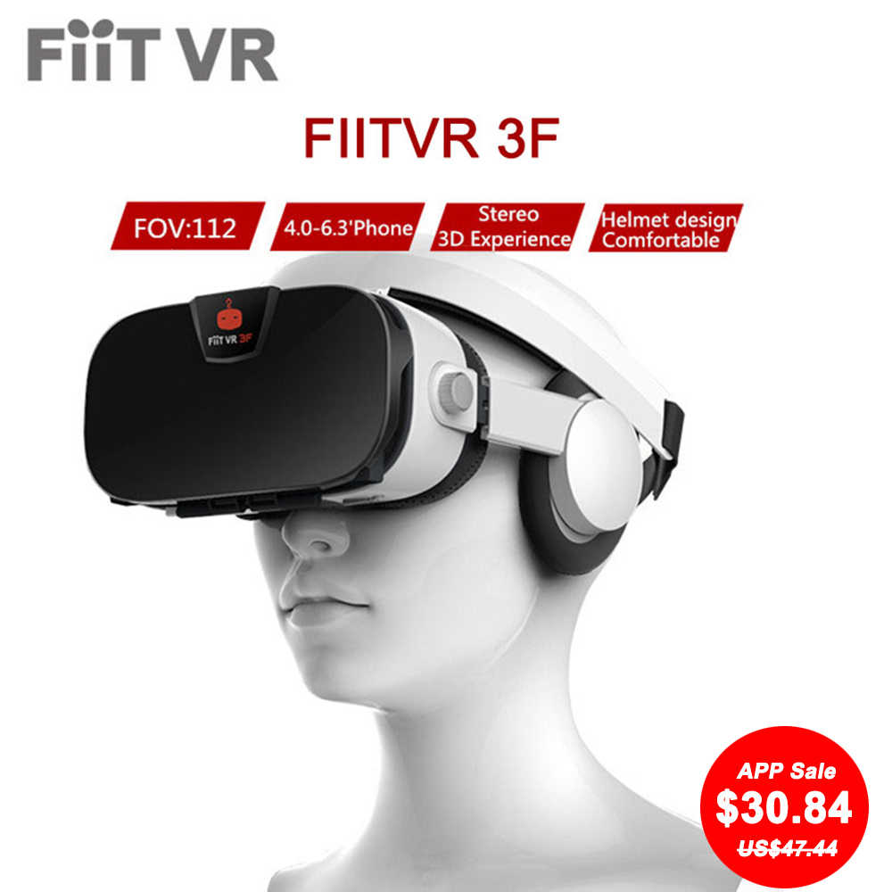 7abcc83bbf05 Fiit VR 3F Stereo Video 3D Glasses VR Headset Virtual Reality Smartphone  Google Cardboard Helmet vr