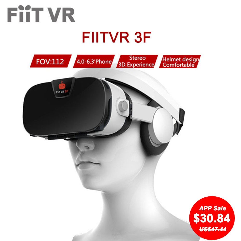 7ef421d4f09 Fiit VR 3F Stereo Video 3D Glasses VR Headset Virtual Reality Smartphone  Google Cardboard Helmet vr For 4inch to 6.4