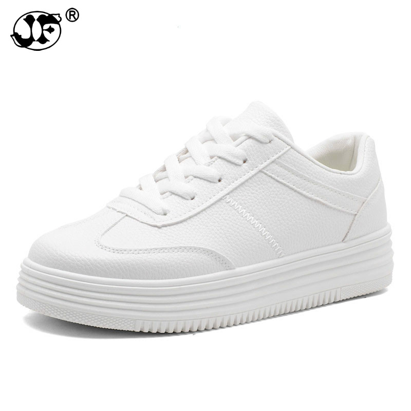Fashion White Shoes Women Platform Sneakers Causal Shoes Trainers Summer Basket Femme Ladies Flat Sneakers Lace Up Zapatos Mujer fashion women flats summer leather creepers platform sneakers causal shoes solid basket femme white black