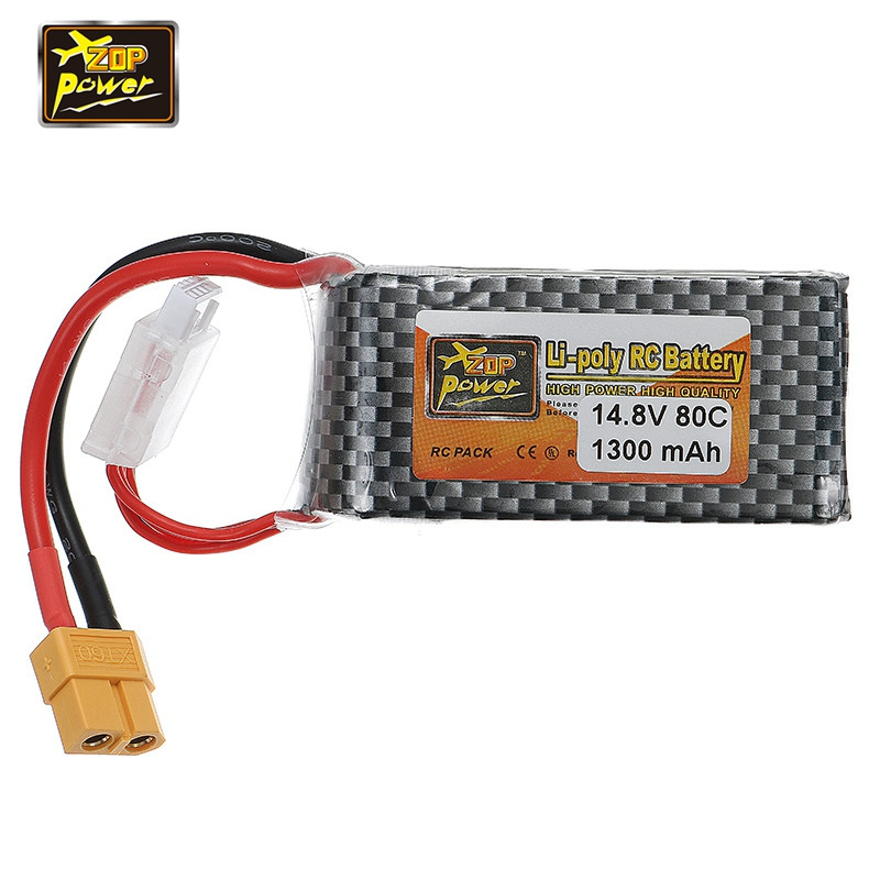 2018 Newest ZOP Power 14.8V 1300mAh 80C 4S Lipo Battery XT60 Plug Connector for RC Racing Racer Drone FPV Quadcopter Spare Parts 2018 rechargeable zop power 7 4v 1000mah 2s 25c lipo battery jst plug connector for rc drone fpv quadcopter diy toys spare parts