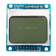 LCD Screen Display Module White Backlight adapter PCB 3V-5V For Nokia 5110 New Z09 Drop ship