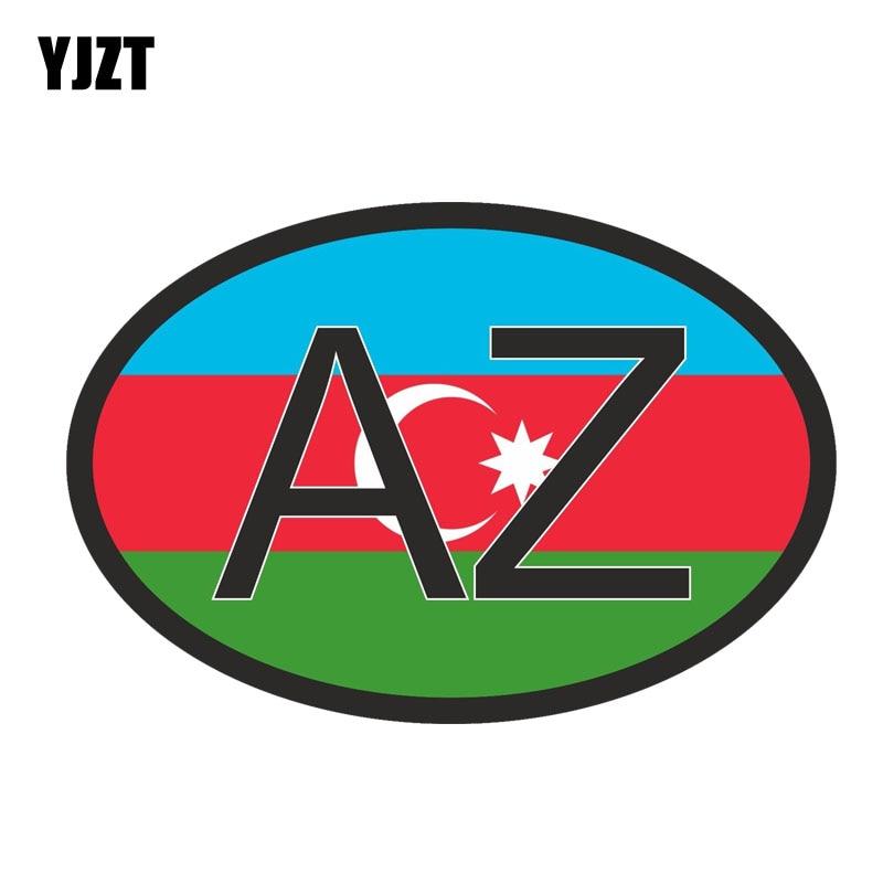 YJZT 13CM*8.7CM Azerbaijan COUNTRY CODE Accessories Body Bike Car Sticker Decal PVC 6-0427