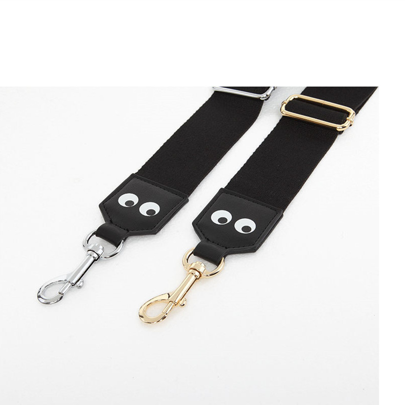 Wide Canvas Strap 135cm Length Smiley Shoulder Bag Strap Women Handbag Straps Replacement Adjustable Bags Belt Accessories