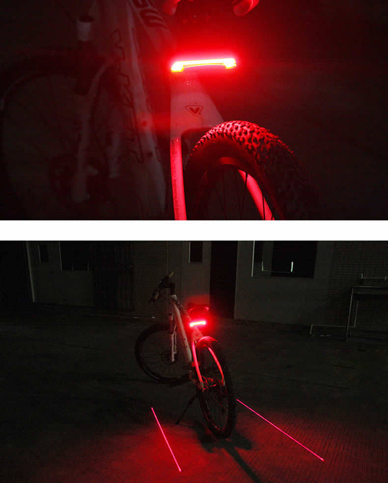 Batfox Intelligent Remote Bicycle Tail Light Waterproof Laser Led