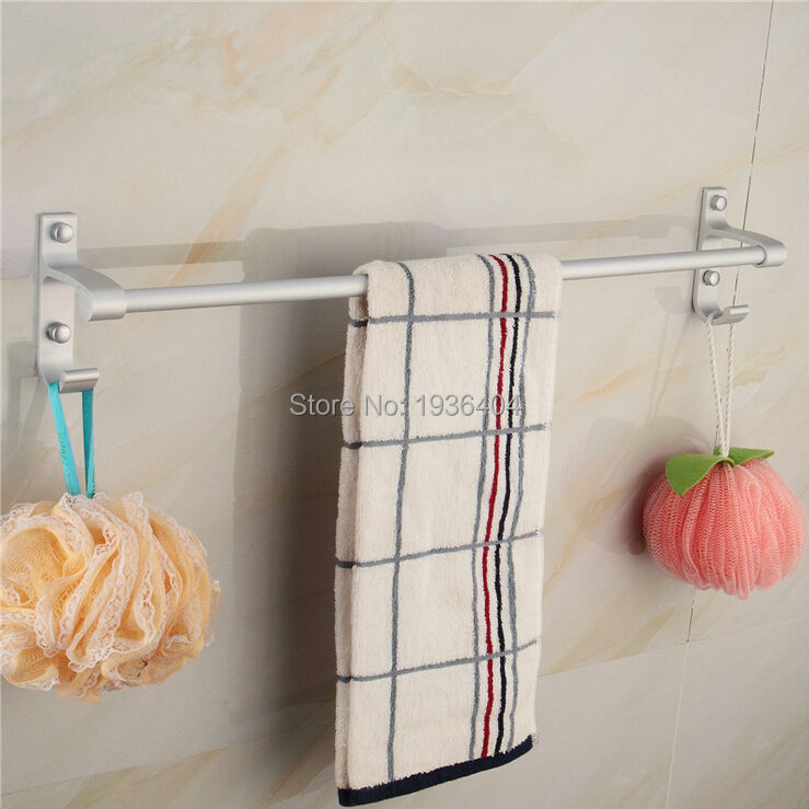 space aluminum fashion style single bar font hotel bathroom towel rack satin nickel brushed shelf